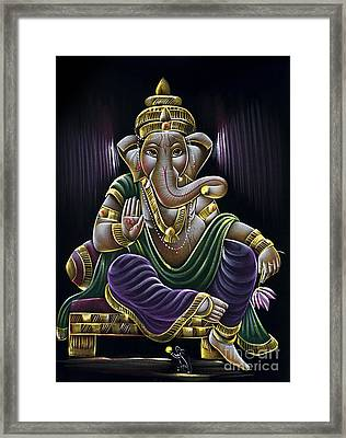 Sri Ganapati Framed Print by Tim Gainey