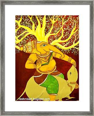 Sri Ganesha Mural Framed Print by Subha devi Gopinath