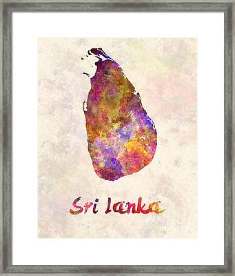 Sri Lanka In Watercolor Framed Print by Pablo Romero