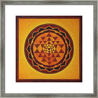 Sri Yantra - The Glow Of The Beloved Framed Print