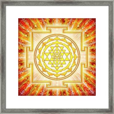 Sri Yantra - Artwork Light Framed Print