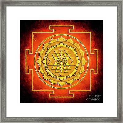 Sri Yantra - Artwork Warming Framed Print