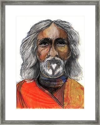 Sri Yukteswar Giri Framed Print by Roger Hanson