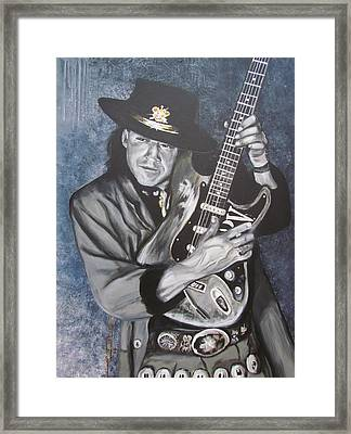 Srv - Stevie Ray Vaughan  Framed Print by Eric Dee