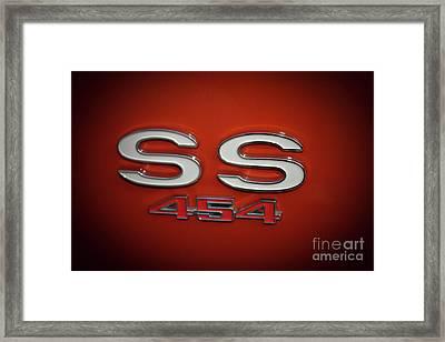 Ss 454 Chevy Automobile Art Framed Print