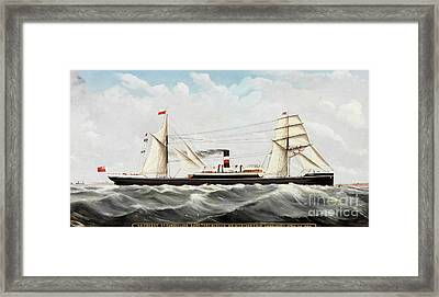 Ss Cogent Of Sunderland Framed Print