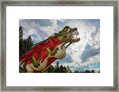 S.s. Empress Dragon Figurehead Framed Print by Inge Johnsson