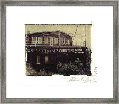 S.s. Grand View Hotel...ship Of The Alleghenies Prow Framed Print by Steven  Godfrey