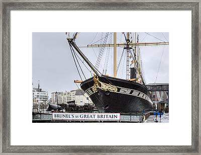 Ss Great Britain - Bristol Framed Print by Joana Kruse