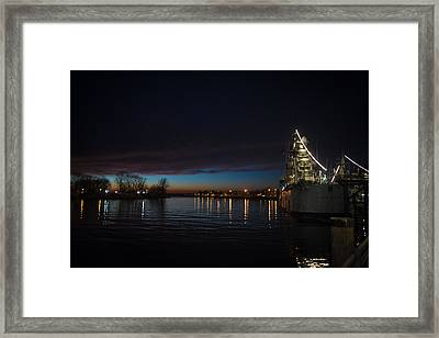 S.s. Little Rock At Night Framed Print