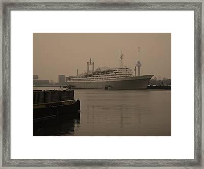 Ss Rotterdam Holland America Line Framed Print by Nop Briex