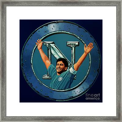 Ssc Napoli Painting Framed Print