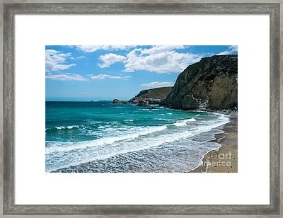 St Agnes Bay Cornwall Framed Print by Amanda Elwell