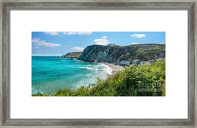 St. Agnes Cornwall Panorama Framed Print by Amanda Elwell