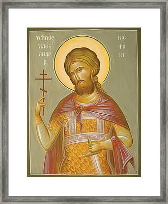 St Alexander Nevsky Framed Print by Julia Bridget Hayes