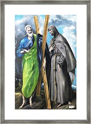 St. Andrew And St. Francis Framed Print
