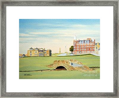 St Andrews Golf Course Scotland - Royal And Ancient Framed Print