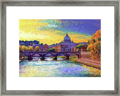 St Angelo Bridge Ponte St Angelo Rome Framed Print