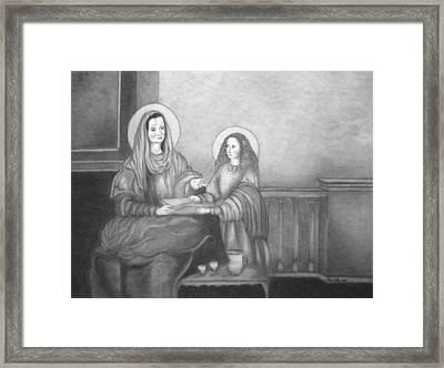 St. Anne And Bvm Framed Print