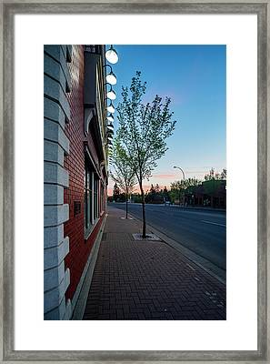Framed Print featuring the photograph St. Anne Street At Dusk by Darcy Michaelchuk