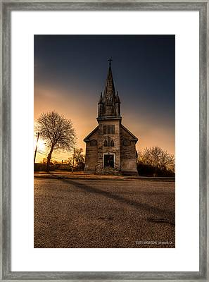 St. Ansgarius Anglican And Our Saviour's Lutheran Church Framed Print by Jakub Sisak