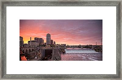St. Anthony Falls Framed Print by George Hausler