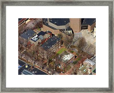 St Anthony Hall And St Elmo Fraternity Houses University Of Pennsylvania Framed Print by Duncan Pearson