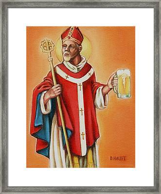 St. Arnold Of Metz Framed Print by Donna Haupt