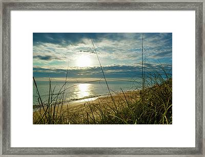 St Aug Sunrise Framed Print
