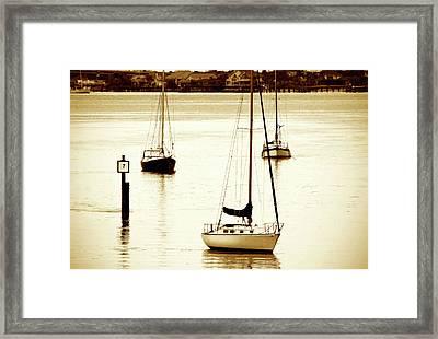 St. Augistine Harbor 2 Framed Print by Alan Hausenflock