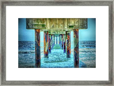 Framed Print featuring the photograph St. Augustine Beach by Louis Ferreira