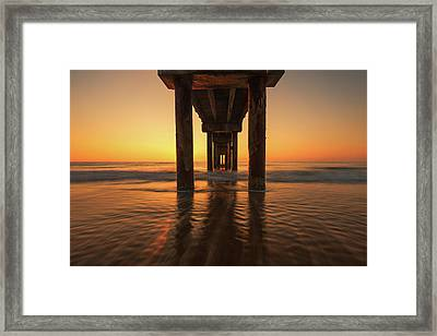St Augustine Beach Pier Morning Light Framed Print