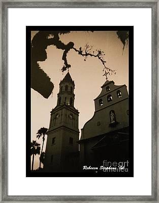 St. Augustine Chapel Framed Print by Rebecca Stephens