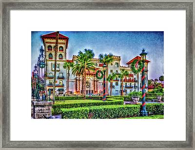 St. Augustine Downtown Christmas Framed Print