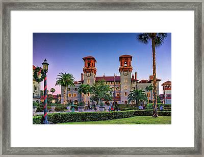 St. Augustine, Fl - Lightner Lights Framed Print