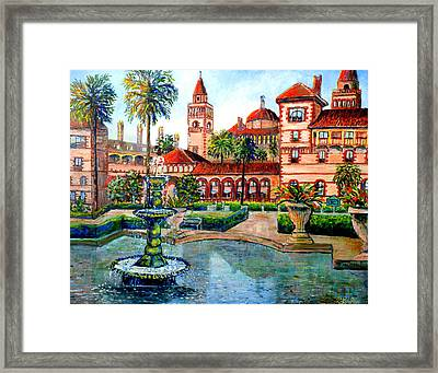 Framed Print featuring the painting St Augustine Florida by Lou Ann Bagnall