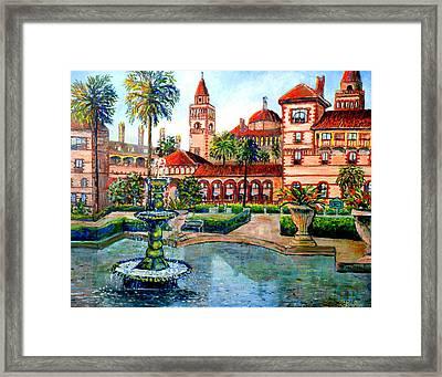 St Augustine Florida Framed Print by Lou Ann Bagnall