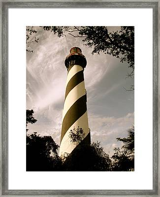 St. Augustine Light House Framed Print by Kimberly Camacho