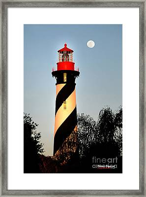 St. Augustine Lighthouse Framed Print by Addison Fitzgerald