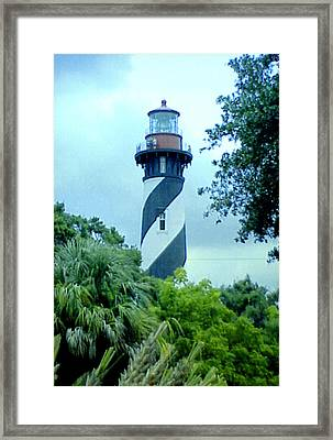 Framed Print featuring the photograph St Augustine Lighthouse by Frederic Kohli