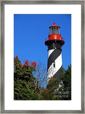 St. Augustine Lighthouse Framed Print by Georgia Nick