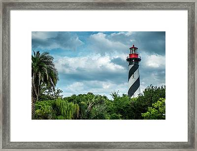 Framed Print featuring the photograph St. Augustine Lighthouse by Louis Ferreira