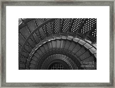 St. Augustine Lighthouse Spiral Staircase I Framed Print by Clarence Holmes