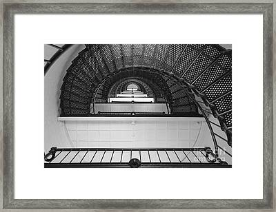 St. Augustine Lighthouse Spiral Staircase IIi Framed Print by Clarence Holmes