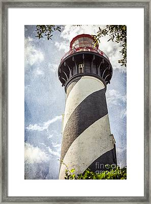 Framed Print featuring the photograph St. Augustine Lighthouse by Todd Blanchard