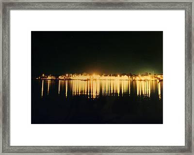 St. Augustine Lights Framed Print