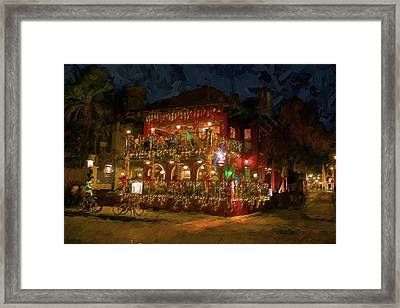 Framed Print featuring the photograph  St. Augustine Meehan's Pub by Louis Ferreira