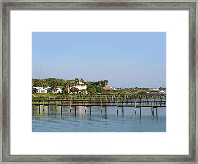 St. Augustine Morning Framed Print by Gordon Beck
