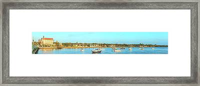 Framed Print featuring the photograph St Augustine Panorama by Sebastian Musial