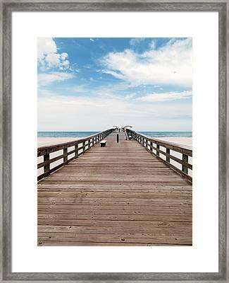 St. Augustine Pier Framed Print